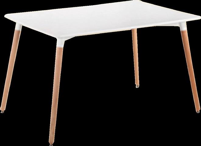 שולחן עץ מלבני צבע לבן