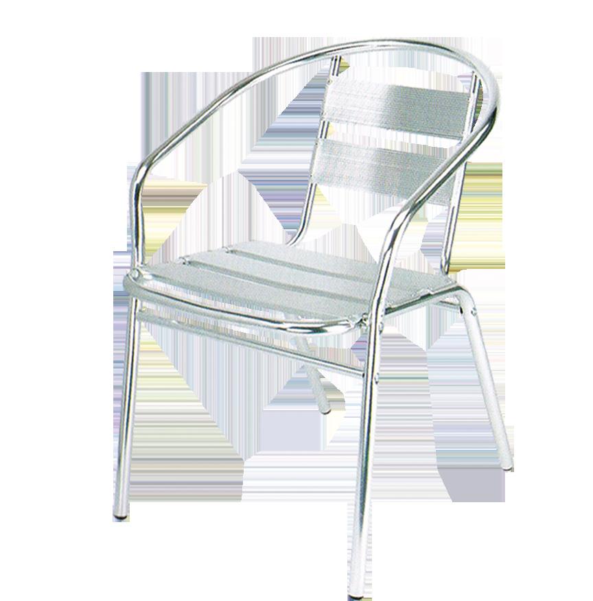 כסא אלומניום ניקל