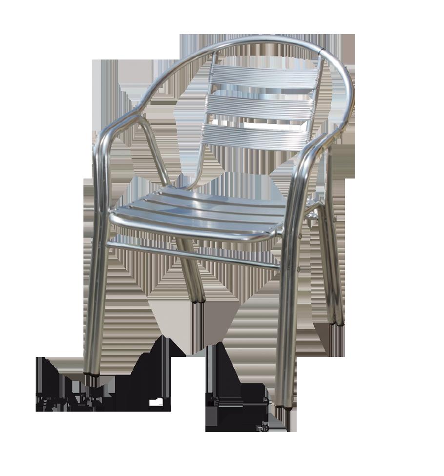 כסא אלומניום דאבל רגל ניקל