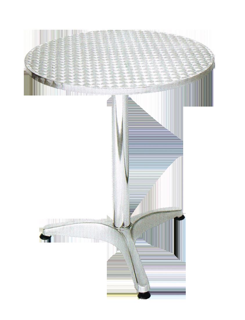 שולחן עגול אלומניום 70 ס