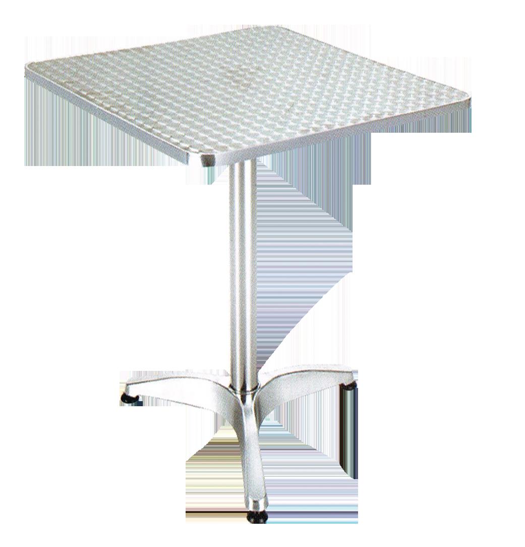 שולחן מרובע אלומניום ניקל 70\70