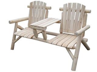 ספסל מעץ 2 מקומות