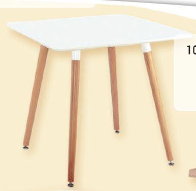 שולחן עץ מרובע