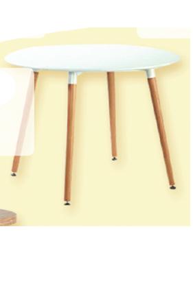 שולחן עץ עגול