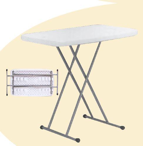 שולחן מלבני רגליים מתקפלות