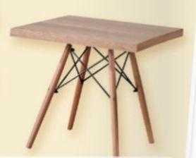 שולחן עץ נמוך מרובע