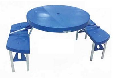 שולחן מתקפל מזוודה עגול